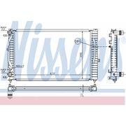 Радиатор охлажения AUDI (пр-во Nissens) фото