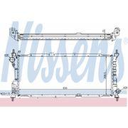Радиатор охлажения OPEL (пр-во Nissens)