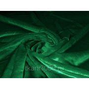 Мех искусственный коротковорсовой зеленый фото