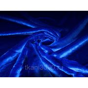 Мех искусственный коротковорсовой синий фото