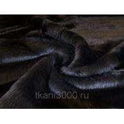 Мех искусственный длинноворсный черный фото