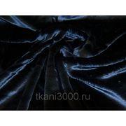 Мех искусственный мутон темно - синий фото