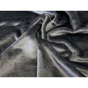 Мех искусственный коротковорсовой серый фото