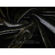 Мех искусственный мутон черный фото