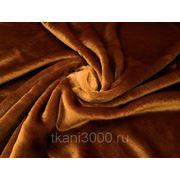 Мех искусственный коротковорсовый карамельный фото