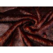 Мех искусственный длинноворсовый черно-бордовый фото