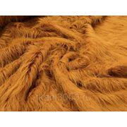 Мех искусственный длинноворсовой коричнево - рыжий фото