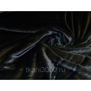 Мех искусственный коротковорсовый черный фото