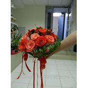 """Букет из 15 роз """"осенний"""" фото"""