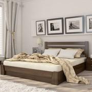 Кровать из натурального дереве с подъёмным механизмом Селена фото