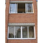 Изготовление алюминиевых раздвижных балконных рам фото