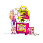 """Детские игровые кухни Faro Кухня """"Барби"""" 80 см 20 аксс. [1534] фото"""