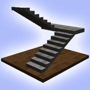 П — образная лестница бетонная монолитная лестница фото