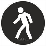 Знак безопасности Проход здесь (Металл СВ) (М 10) 200x200 фото