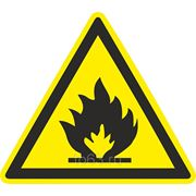 Знак безопасности Пожароопасно. Легковоспламеняющиеся вещества (W 01) 200x200 фото