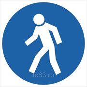 Знак безопасности Проход здесь (М 10) 200x200 фото