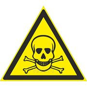 Знак безопасности Опасно. Ядовитые вещества (Металл) (W 03) 200x200 фото