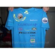 Вышивка логотипов на футболках промо