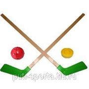 Набор детский (2 клюшки хоккейные, мячик, шайба) фото