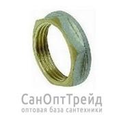 """Контргайка с ребордой 3/4"""" никель ТМ фото"""