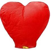 Небесный фонарик Большое красное сердце фото