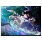 Постер в рамке «Знак зодиака: телец «, формат А4, светится в темноте фото