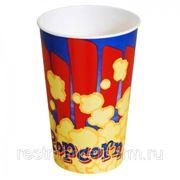 Стакан для попкорна бумажный V 46 фото