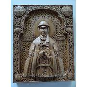 Икона резная- Святая равноапостольная княгиня Ольга фото
