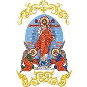 Закладка в Евангелие Воскресение Христово - дизайн для машинной вышивки фото
