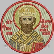 Икона СВ Филипп митрополит Московский - дизайн для машинной вышивки фото