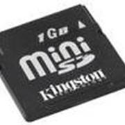 Флеш карта miniSD 1Gb Kingston фото