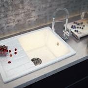 """Мойка кухонная """"Torino"""" Onyx Bianco фото"""
