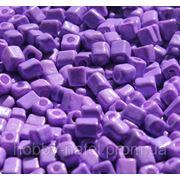 Бисер крупный квадратный фиолетовый (100 г) фото