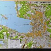 Настенная рельефная карта Санкт-Петербурга фото