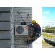Монтаж демонтаж кондиционера, спутниковых антенн, замена стеклопакетов фото