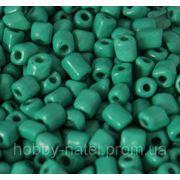 Бисер крупный квадратный бирюзово-зеленый (100 г) фото