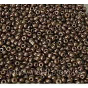 Бисер мелкий серо-коричневый металлик (100 г)