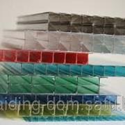 Поликарбонат сотовый 6 мм прозрачный 12 м х 2,1 м фото