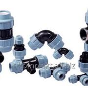 Компрессионные (обжимные) фитинги для полиэтиленовых (ПЭ) трубопроводов. Unidelta фото