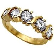 Кольцо золотое с бриллиантами I1/G 1.01 Ct фото