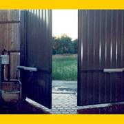 Распашные ворота с автоматическим приводом фото