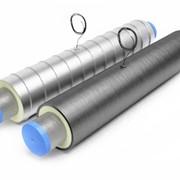 Элемент трубопровода в ППУ защитной оболочке с кабелем вывода фото