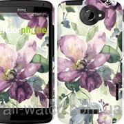 "Чехол на HTC One X+ Цветы акварелью ""2237c-69"" фото"