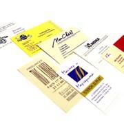 Трафаретные визитные карточки фото