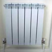 Монтаж биметалического радиатора отопления фото