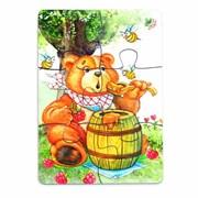 Мини-пазл Медвежонок и мед фото