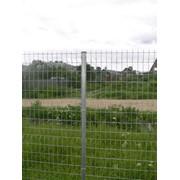 Забор из оцинкованной сетки сварной фото
