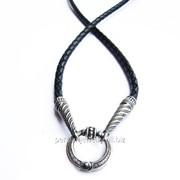 Шнурок кожаный с серебряным замком ВС 001, ВС 002 фото