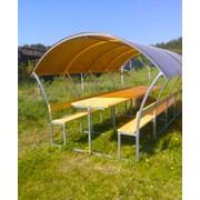 Беседка садовая Агросфера-Астра 4 метра + мангал фото