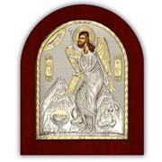 Икона Иоанн Предтеча серебряная греческая Silver Axion 260 х 310 мм фото